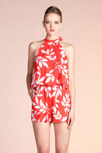 Load image into Gallery viewer, Maui Leaf Halter Romper - Ahri
