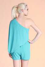 Load image into Gallery viewer, One Shoulder Slouchy Sleeve Romper - Ahri