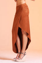 Load image into Gallery viewer, Faux Suede Asymmetrical Bandage Skirt - Ahri