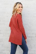 Load image into Gallery viewer, Zipper Down Knit Long Sleeve Top