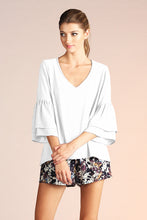 Load image into Gallery viewer, Ruffle V Neck Blouse - Ahri