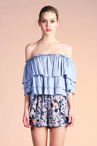 Off Shoulder Ruffle Top - Ahri