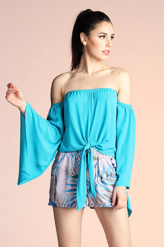 Bell of the Ball Top - Turquoise