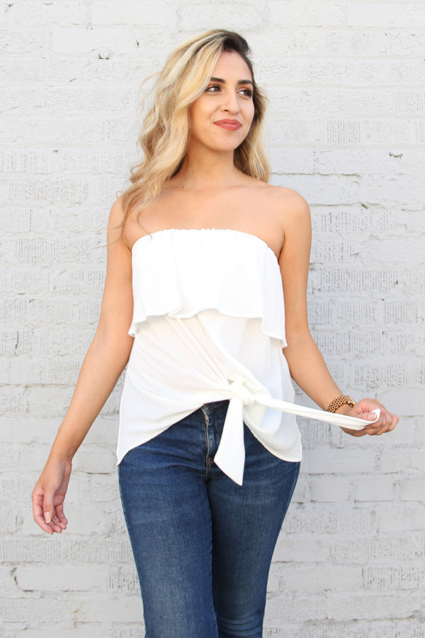 Cherry on Top Strapless Top