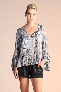 Come Hither Snake Print Long Sleeve - Ahri