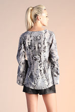 Load image into Gallery viewer, Come Hither Snake Print Long Sleeve - Ahri