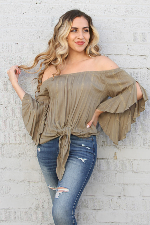 Twinkle Rayon Off Shoulder Top