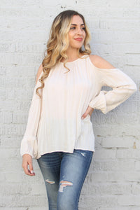 Twinkle Rayon Cold Shoulder Top
