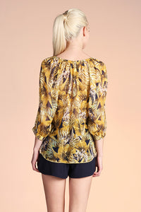Bali Leaf Quarter Sleeve Top