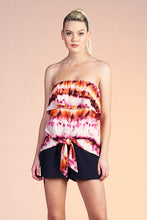 Load image into Gallery viewer, Accordion Tie Dye Strapless Top - Ahri