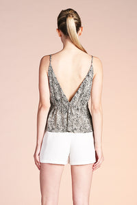 Teardrop Petal Tuck Pleat Cami Top - Ahri