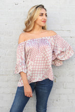 Load image into Gallery viewer, Soft Houndstooth Off Shoulder Top