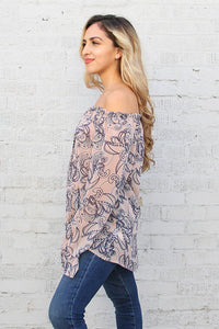 Soft Paisley Long Sleeve Top