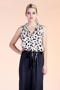 Dalmatian Brush Satin Baby Ruffle Top