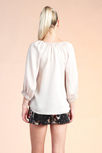 Load image into Gallery viewer, Hammered Satin 3/4 Sleeve Top - Ahri
