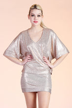 Load image into Gallery viewer, Knit Metallic Kimono Top - Ahri