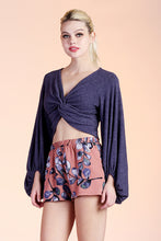 Load image into Gallery viewer, Olivia Twist Balloon Sleeve Sweater Top - Ahri