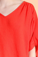 Load image into Gallery viewer, Drawstring V-Neck Dolman Top - Ahri