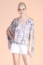 Load image into Gallery viewer, Iridescent Snake Blouson Caftan Top