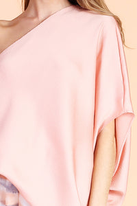 Hammered Satin One Shoulder Top - Ahri