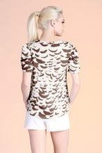 Load image into Gallery viewer, Falling Feathers Puff Sleeve Top