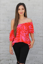 Load image into Gallery viewer, Colorblock Paradise Off Shoulder Top - Ahri
