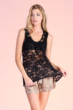 Load image into Gallery viewer, Sheer Lace Tank