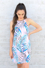 Load image into Gallery viewer, Watercolor Palm Leaf Shift Dress - Ahri