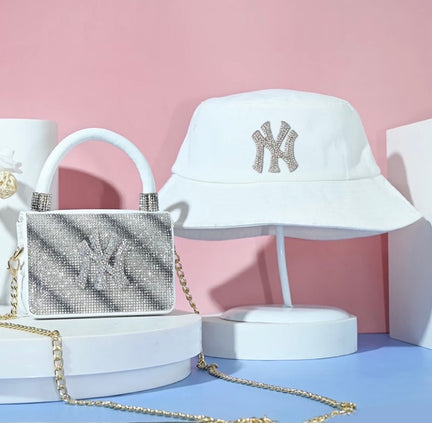 Bucket hat & handbag set