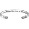 Friend bracelet - She believed she could so she did-Cuff Bracelets-Btysun