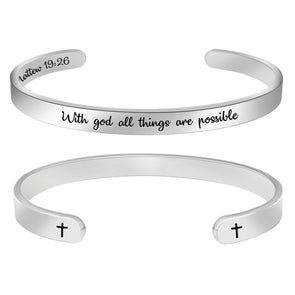 Religious Christian Bracelets for Women - with god All Things are Possible