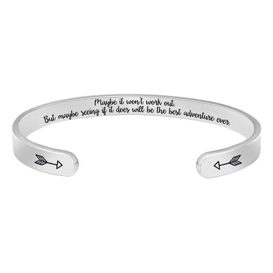 Inspirational Bracelets for women,men - Maybe It won't work out but maybe ....