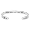 Inspirational bracelet - You are awesome keep that shit up-Cuff Bracelets-Btysun