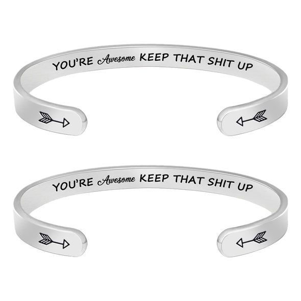 Friendship Bracelets - You're Awesome Keep That Shit Up(2pcs)