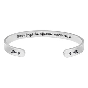 Inspirational bracelets for women,men - Never forget the difference you've made
