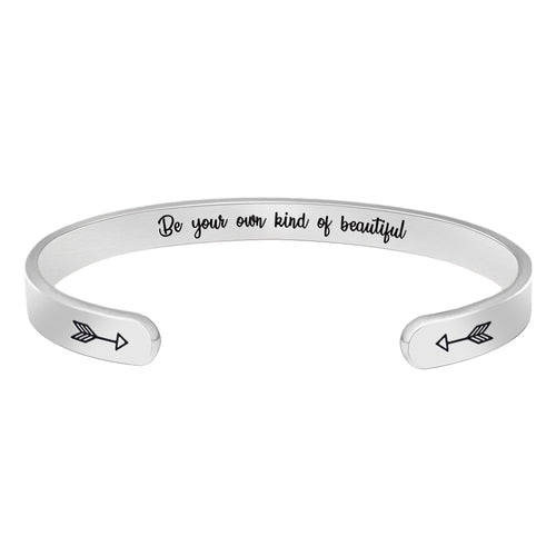 Inspirational bracelet - Be your own kind of beautiful-Cuff Bracelets-Btysun