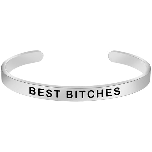 Friendship bracelet - BEST BITCHES - Outside-Cuff Bracelets-Btysun