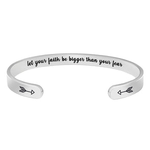 Gifts for Women - let your faith be bigger than your fear