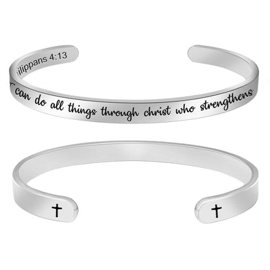 Religious Christian Bracelets for Women - I can do All Things Through Christ who Strengthens me