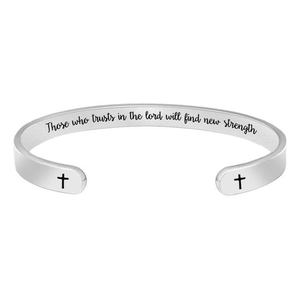 Religious Christian Bracelets for Women - Those who Trusts in The Lord Will find New Strength