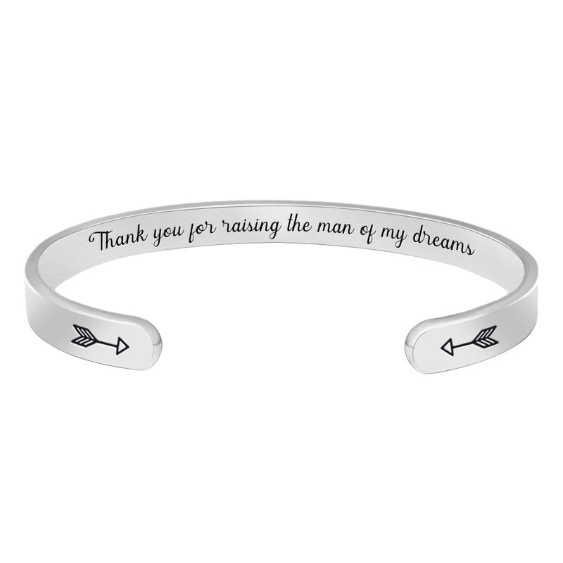 Personalized bracelet - Thanks for raising the man of my dream-Cuff Bracelets-Btysun