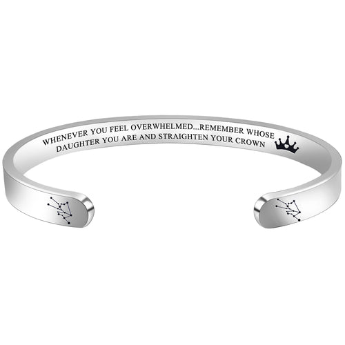 Personalized bracelet - WHENEVER YOU FEEL OVERWHELMED...REMEMBER WHOSE DAUGHTER YOU ARE...'TAURUS-Cuff Bracelets-Btysun