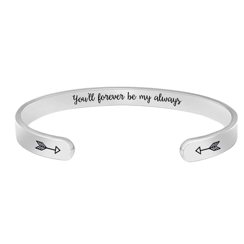 Best friend bracelet - You'll forever be my always-Cuff Bracelets-Btysun