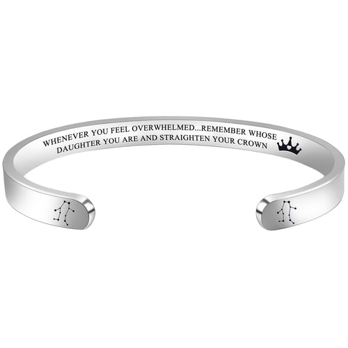 Friendship bracelet - WHENEVER YOU FEEL OVERWHELMED...REMEMBER WHOSE DAUGHTER YOU ARE...-SCORPIO-Cuff Bracelets-Btysun