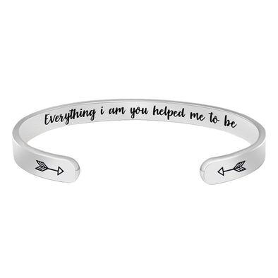 Bracelets for Women,Men - Everything I am you helped me to be