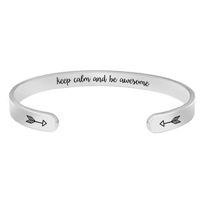 Inspirational bracelets for women - Keep calm and awesome