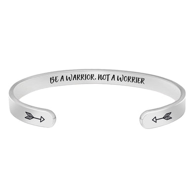 Bracelets for women,men - Be a Warrior,not a worrier