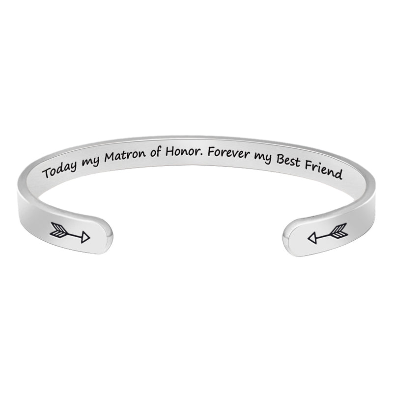 Friendship bracelet - Today my mantra of honor,forever my best friend-Cuff Bracelets-Btysun