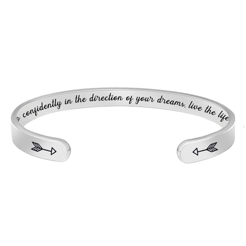 Friend bracelet - Go confidently in the direction of your dream, live the life-Cuff Bracelets-Btysun