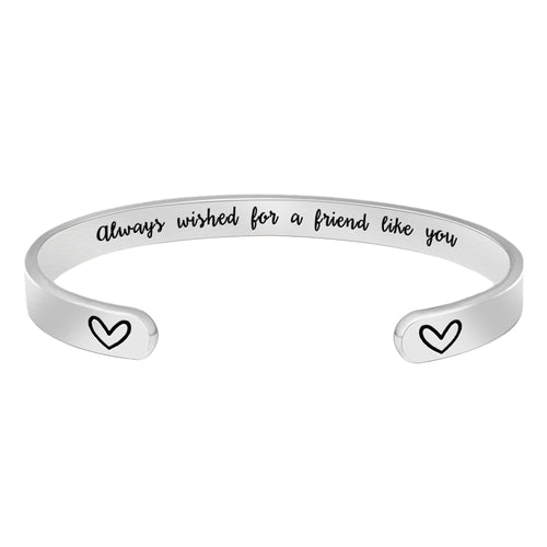 Friendship bracelet - Always wished for a friend like you-Cuff Bracelets-Btysun